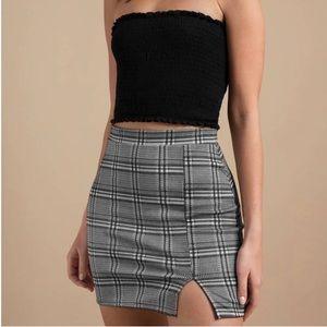 Tobi Plaid Mini Skirt